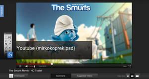 Youtube Theme PSD File