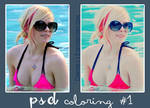 Avril PSD Coloring