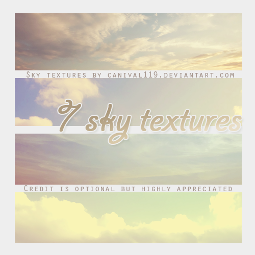 Sky Textures by Canival119