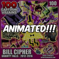 100 Cartoon Villains - 100 - Bill Cipher!