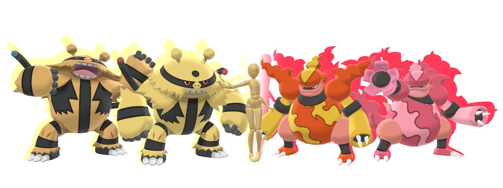MMD - Magmortar And Electivire Combo Pack *DL*