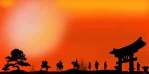 Ronin Sunset 4K Artwork