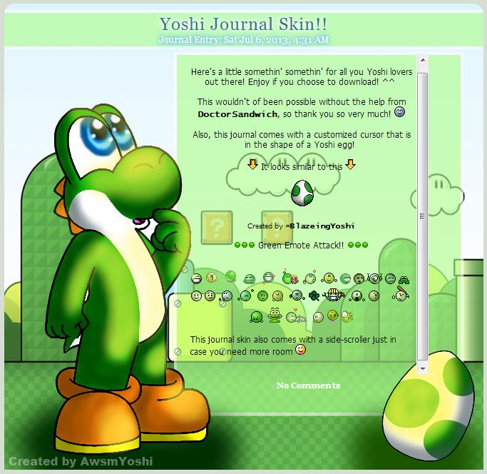 Yoshi Journal Skin! *FREE* by AwsmYoshi
