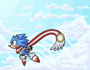 Sonic the Hedgehog AU - Sonic Skyline Fanart