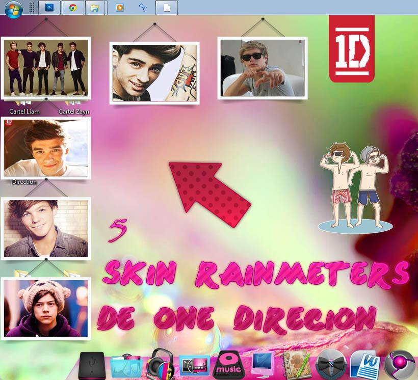5 Skin Rainmeter de One Direction by KissOfPrincess