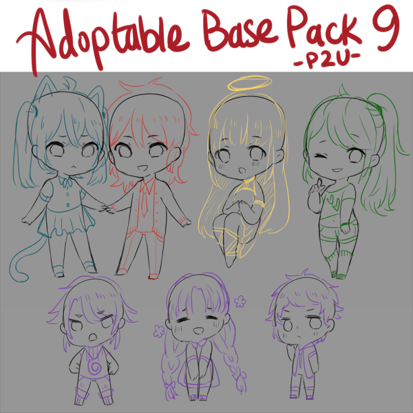 [P2U BASES] Adoptable Base Pack 9 by sportsbaes