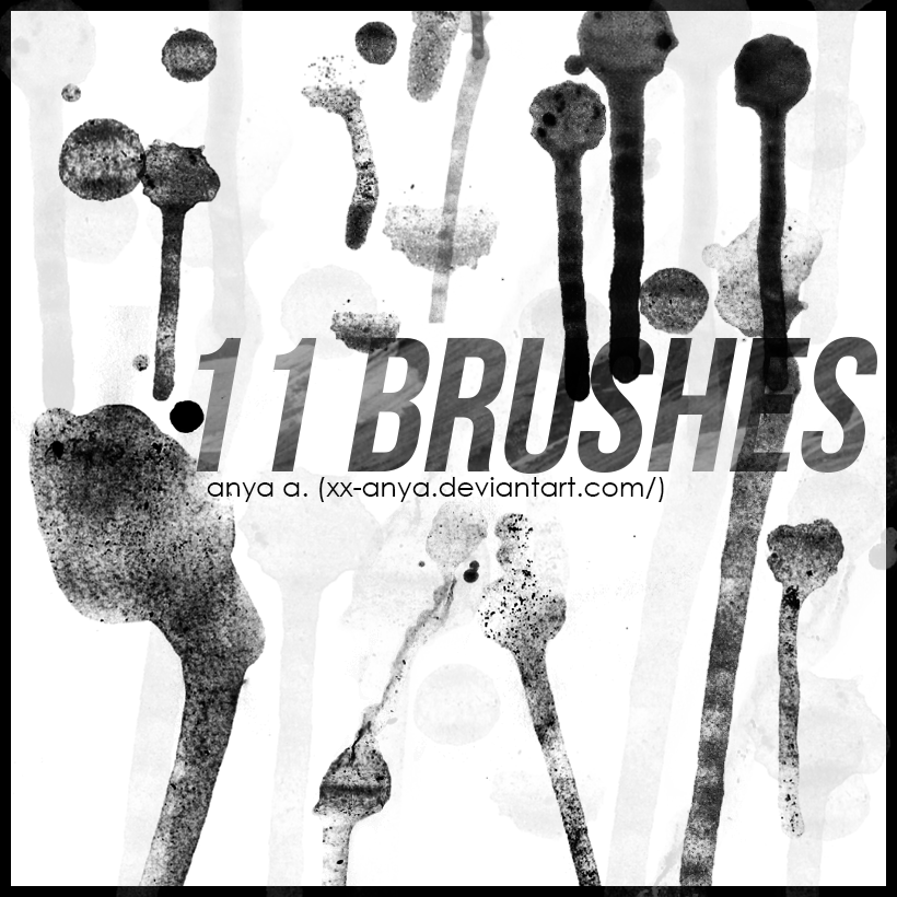 Brushes, Paint Drops by xx-Anya