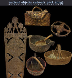 Ancient Objects Pack, PNG