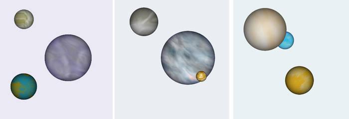 Three Sets Three Planets Each