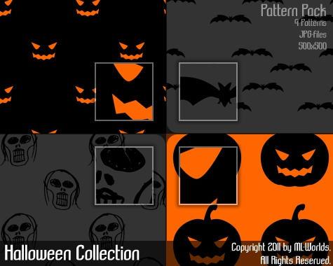 Halloween Patterns by ML-Worlds