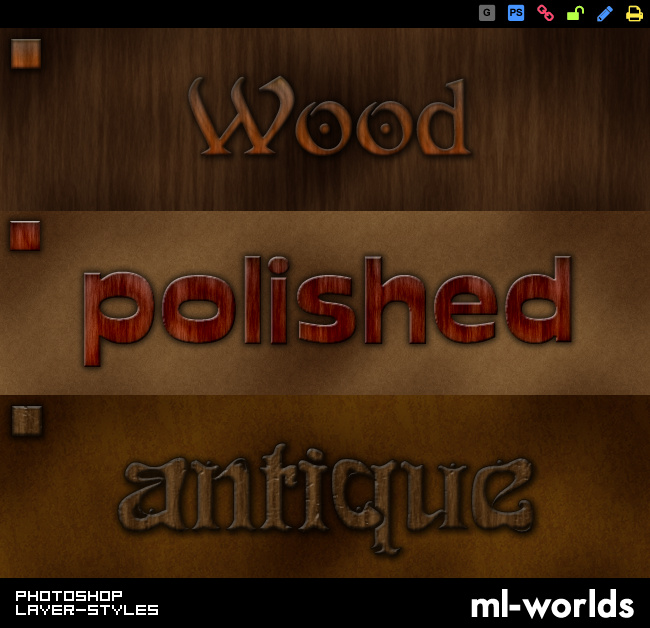 Wood Layer Styles by ML-Worlds
