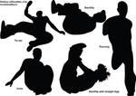 Parkour silhouettes_2