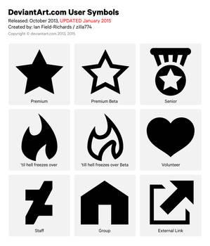 Official deviantART User Symbols Pack