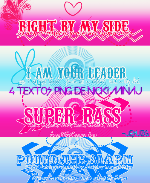 4 Textos Png Nicki Minaj :Q by BlackJesusGermanotta