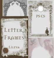 Letter Frames by Lileya