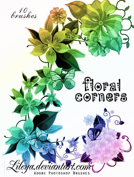 Floral corners by Lileya