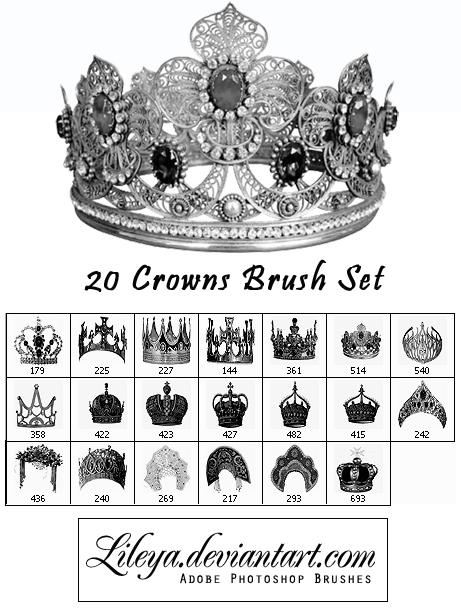 Crowns Brush set