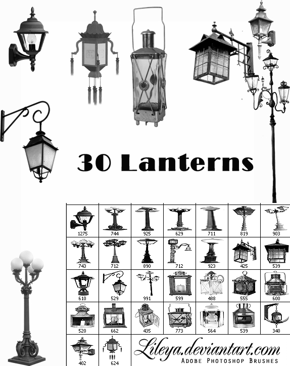 Old lanterns Brush Set