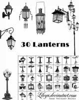 Old lanterns Brush Set by Lileya