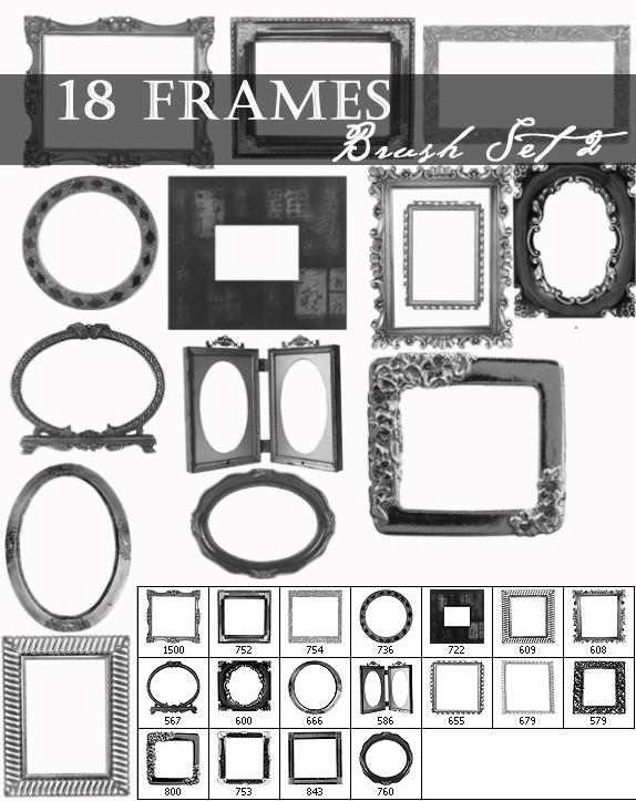 Frame brushes set 2