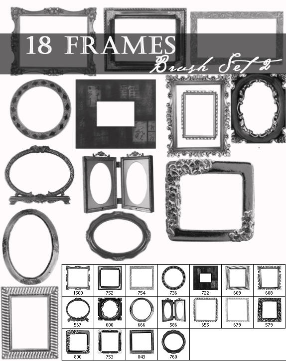 Frame brushes set 2 by Lileya on DeviantArt