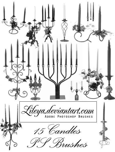 Candles PS brush set by Lileya