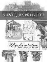 Antiques brush set by Lileya