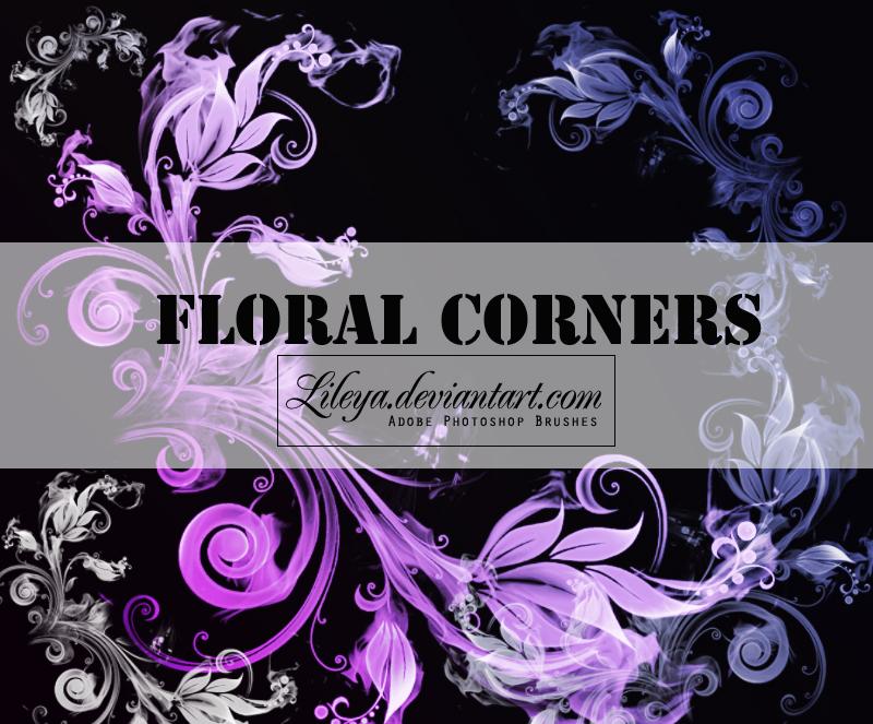 Floral Corners - PSCS brushset