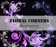 Floral Corners - PSCS brushset by Lileya