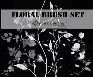 Floral brush set by Lileya