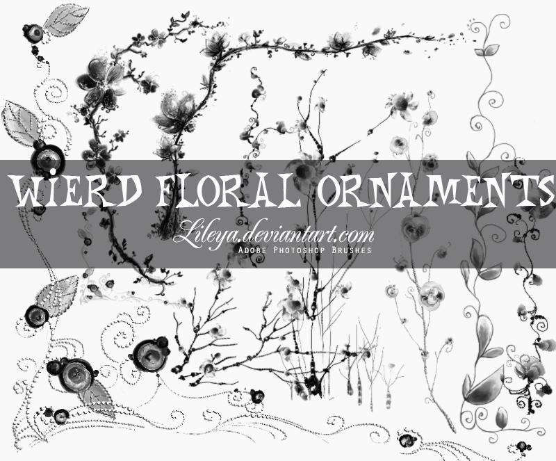Wierd Floral Ornaments by Lileya