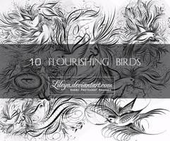 Flourishing birds by Lileya