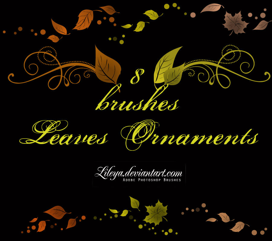 Leaves ornaments by Lileya