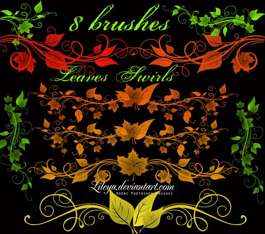 Leaves swirls by Lileya