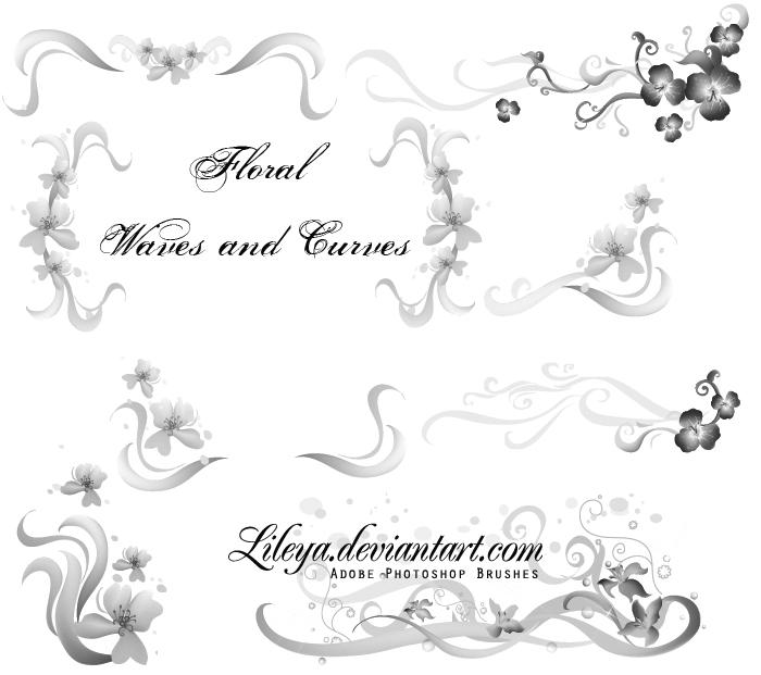 Floral Waves and Curves by Lileya