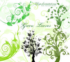 Green Leaves and Trees by Lileya