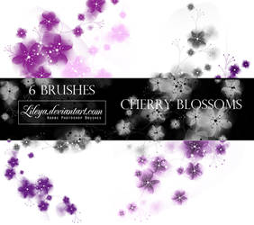 Cherry blossoms PS  brushes by Lileya
