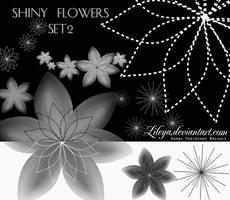 Shiny Flowers - set 2 by Lileya