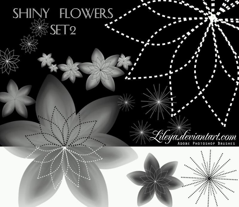 فرش فوتوشوب ناردة وجديدة 2010 Shiny_Flowers___set_2_by_Lileya