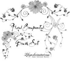 Floral Ornamental Brush Set by Lileya
