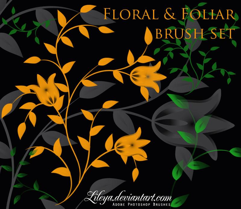 Floral and Foliar brush set by Lileya