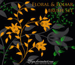 Floral and Foliar brush set