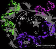 Floral Corners - set 2 by Lileya