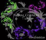 Floral Corners - set 2
