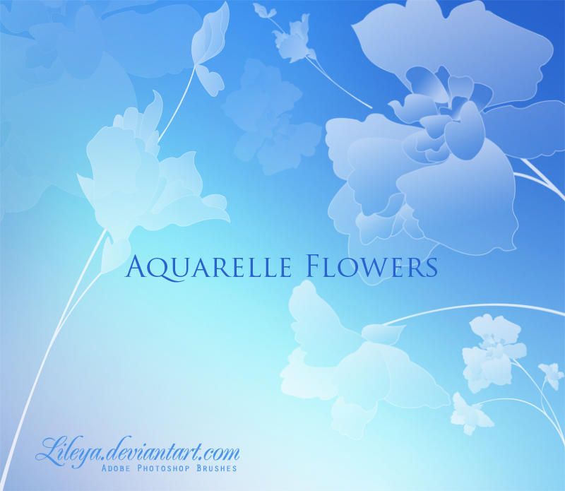 Aquarelle Flowers by Lileya