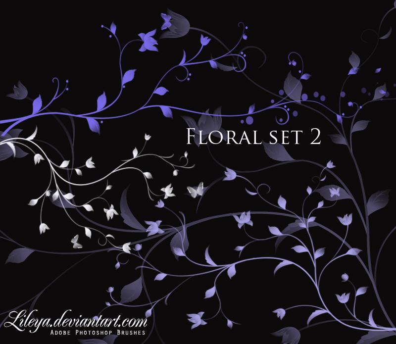 Floral brush set 2 by Lileya