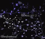 Floral brush set 2