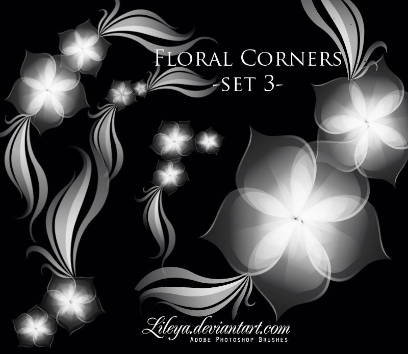 Floral Corners set 3