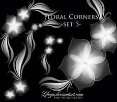 Floral Corners set 3 by Lileya