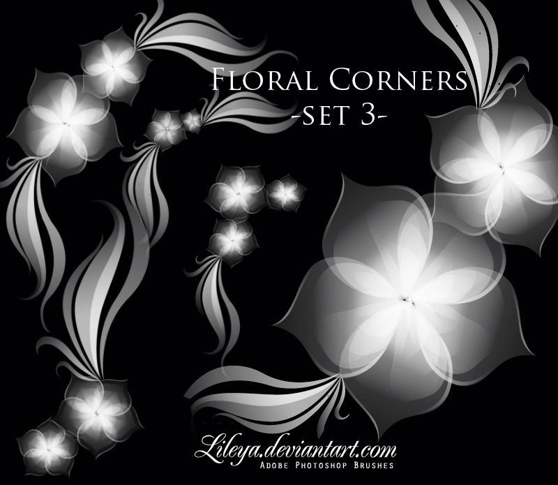 فرش فوتوشوب ناردة وجديدة 2010 Floral_Corners_set_3_by_Lileya
